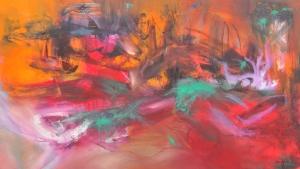 Interpretación: Oleo sobre lienzo 83 X 140 cm